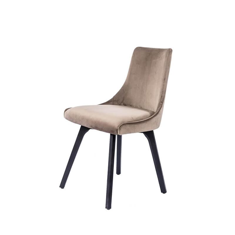 chaise cocooning en tissu et pieds en bois lars