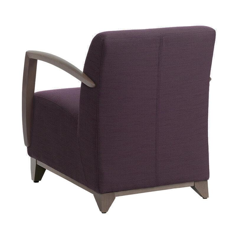 fauteuil en tissu avec accoudoirs en bois borneo mobitec