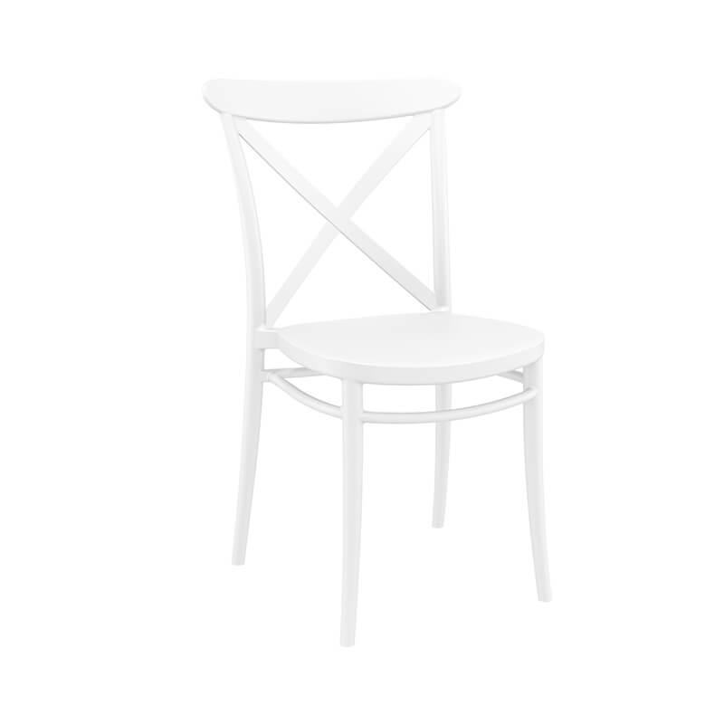 chaise de cuisine style bistrot empilable en polypropylene cross