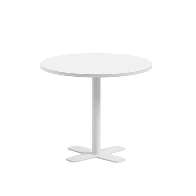 table ronde pour cuisine en stratifie avec pied central spinner