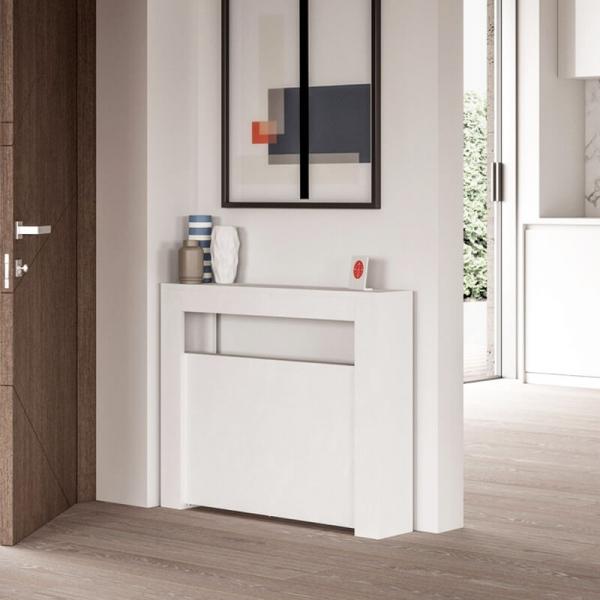 table console extensible de fabrication italienne en melamine slimmy