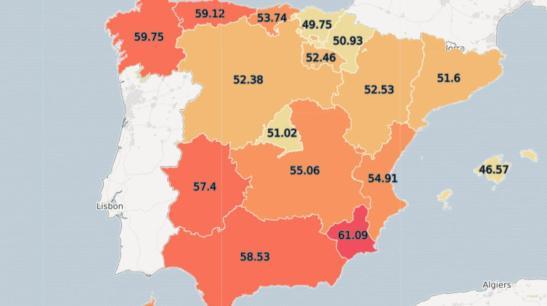 Resultado de imagen de mapa obesidad españa