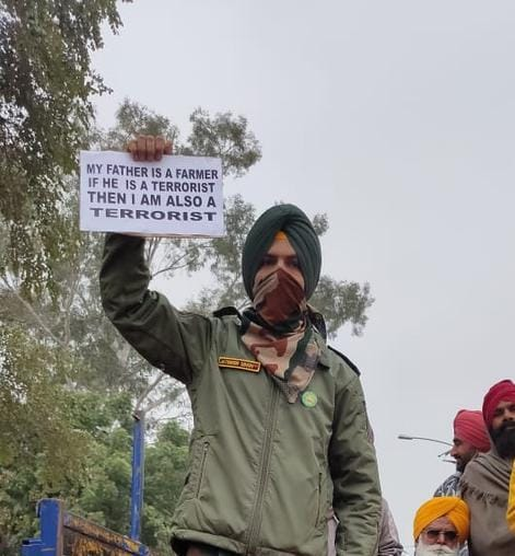 Indian Army action after ex-servicemen wearing uniforms and medals in the peasant movement