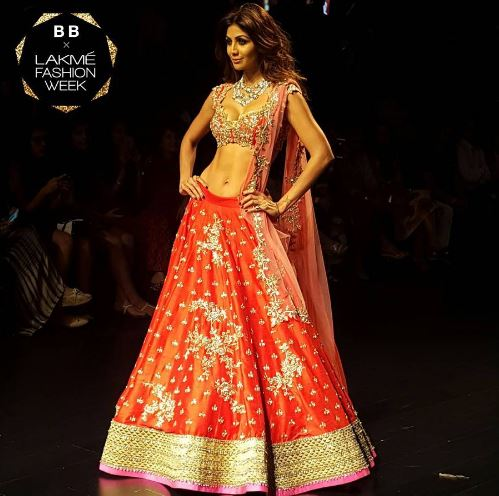 Image result for shilpa shetty lakme fashion week 2016