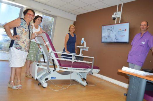 Colette Adam, directrice de l'Ehpad, Christine Chauffray, infirmière coordinatrice, Véronique Foulon, médecin coordinateur et Benoît Paris, infirmier référent.