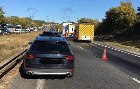 Un accident s est produit ce jeudi midi sur la Francilienne.