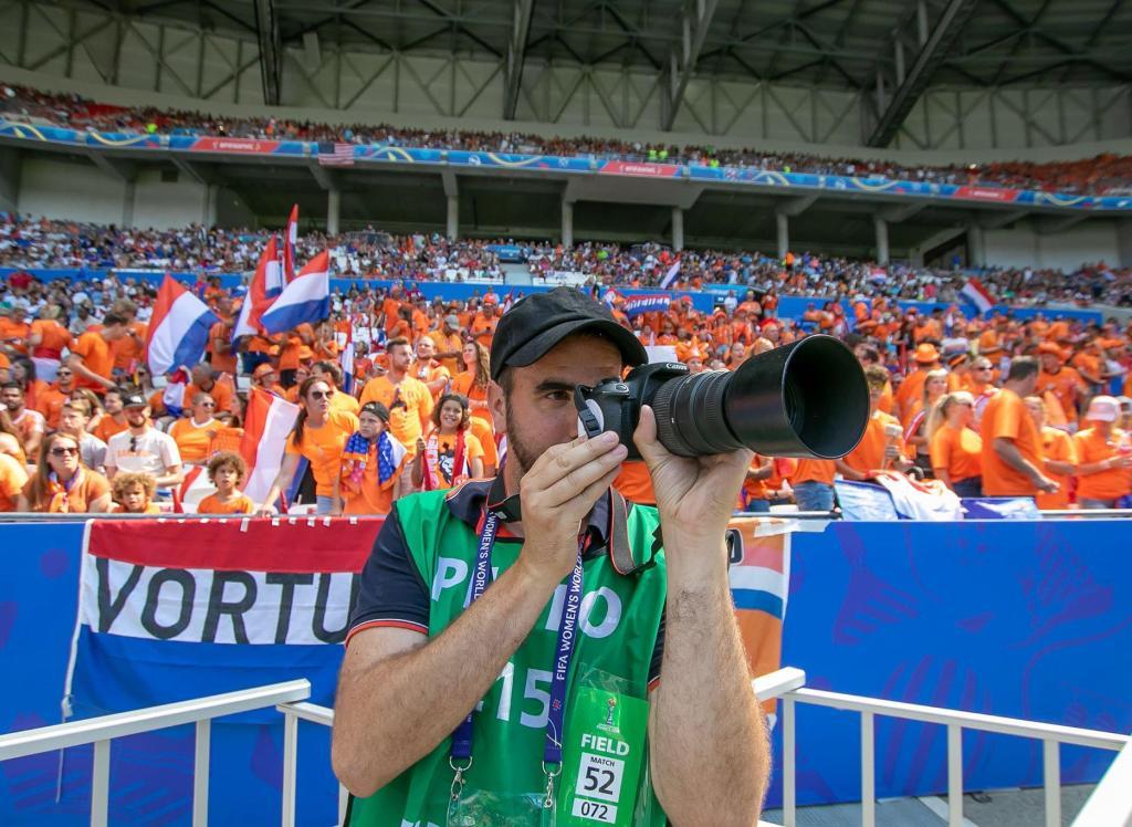 Ploërmelais correspondent Fred Jigorel photographed the Women's World Cup. (© Manu Cahu)