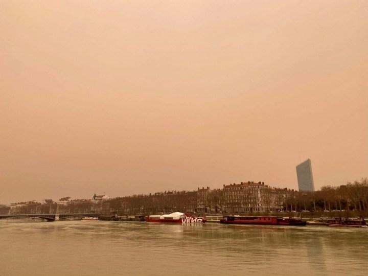 Sur les quais du Rhône à Lyon, le 6 février 2021.