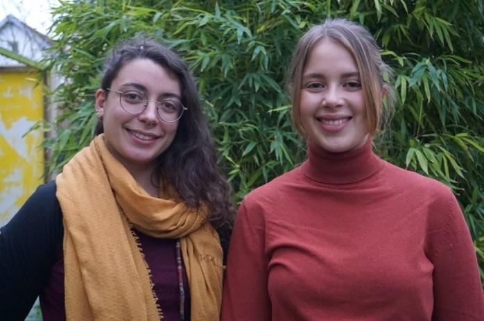 Camille et Alexine, les deux porteuses du projet