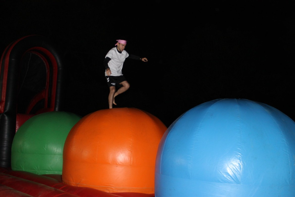 The Decathlon 2 candidate on the Wipe out.  We are quickly ejected!