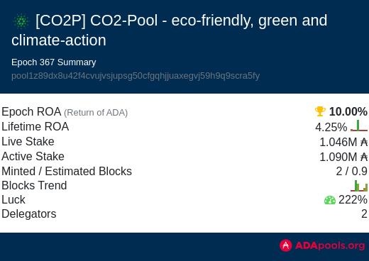 Stakepool CO2POOL