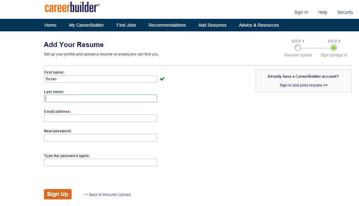 Create job seeker account for registered nurse jobs