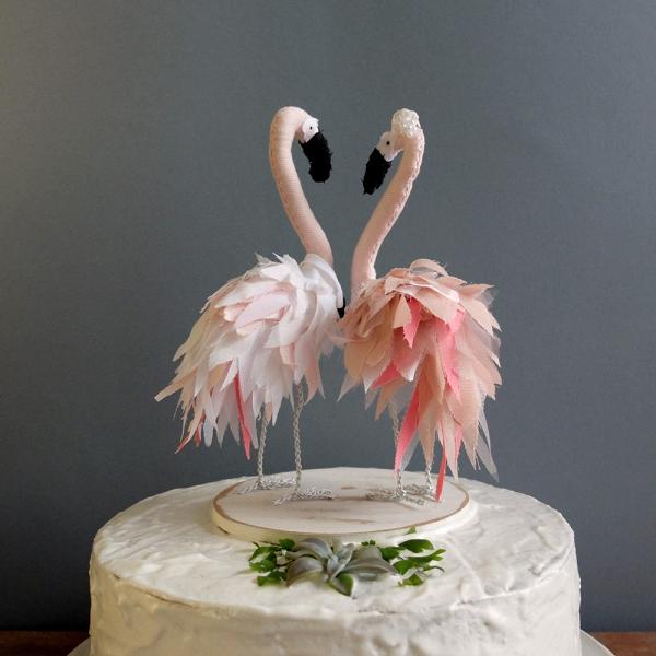 Flamingo Wedding Cake Topper Aisle Society