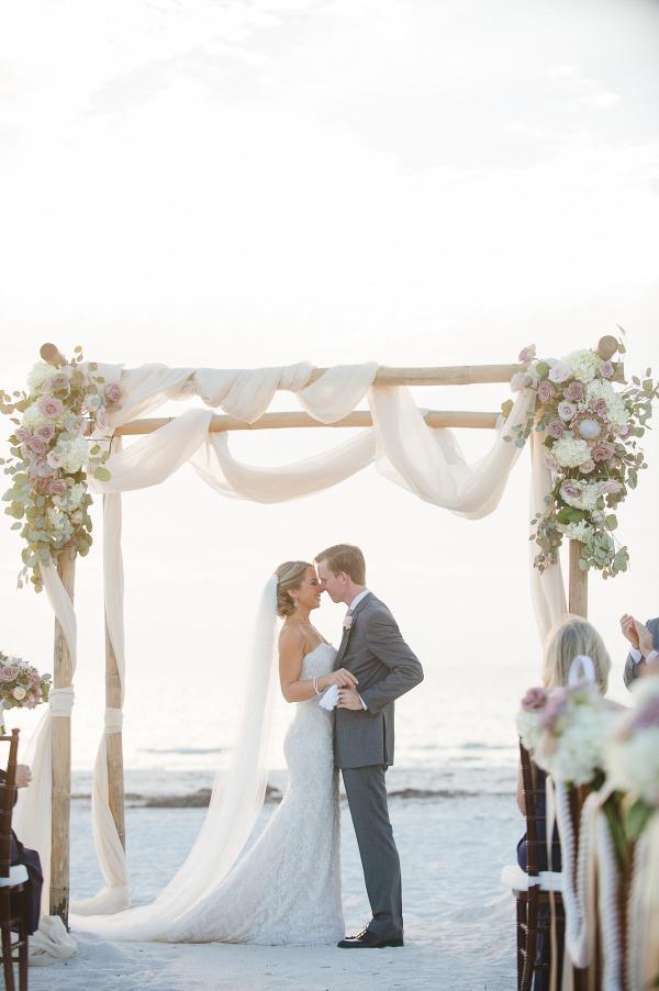 Romantic Beach Wedding Aisle Society