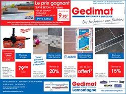 Gedimat Catalogue Reduction Et Code Promo Janvier 2021