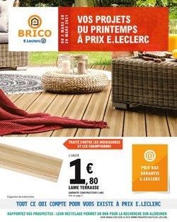 Brico E Leclerc Catalogue Reduction Et Code Promo Juillet 2021
