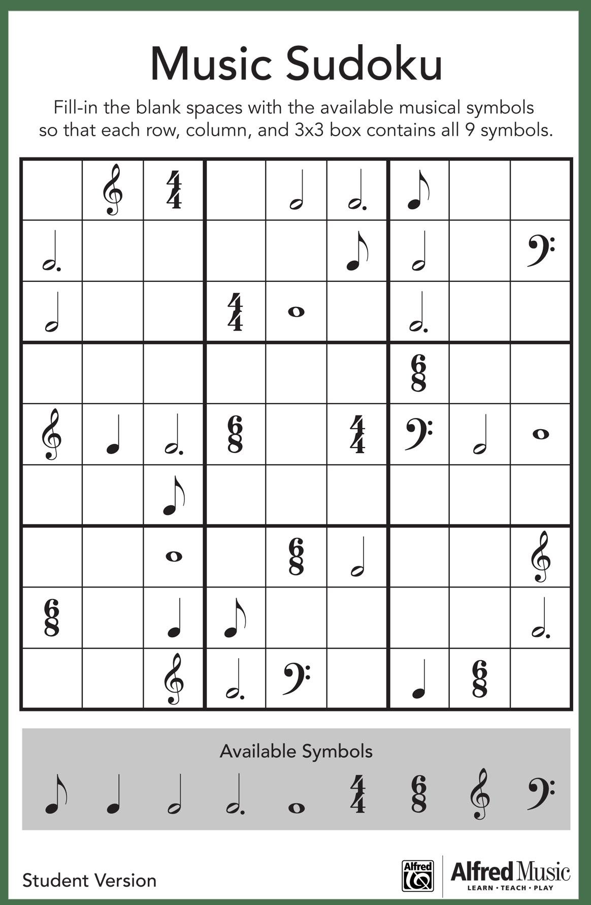 Easy Rhythm Worksheet