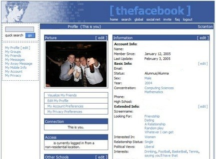 The Facebook - 2005