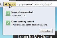 Opera 11 - Safer address field