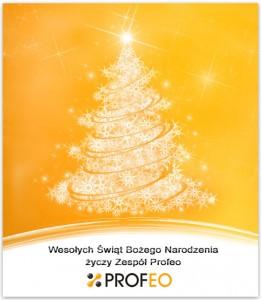 Profeo - życzenia świąteczne