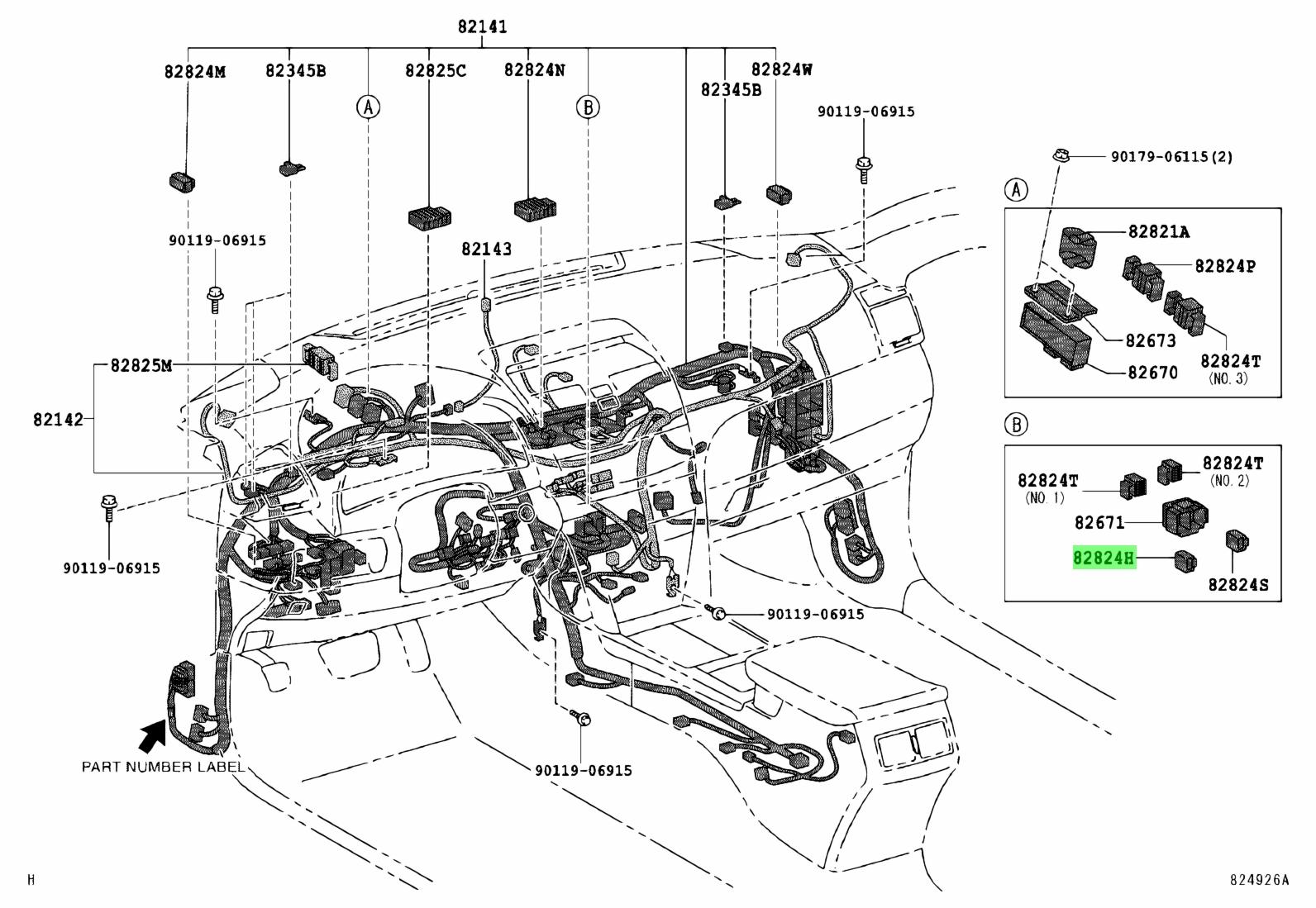 Genuine Toyota Connector Wiring