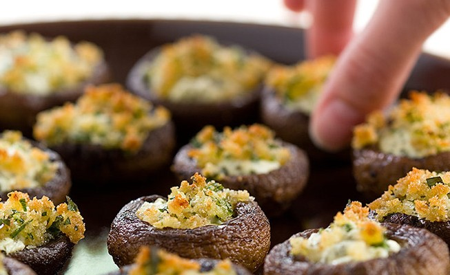 Stuffed Mushrooms make me go gaga.