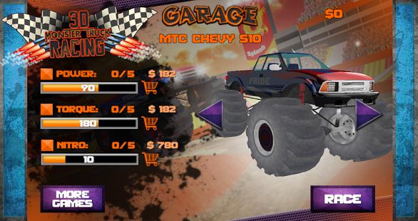 3D Monster Truck Racing