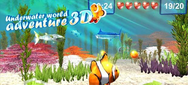 Underwater world. Adventure 3D