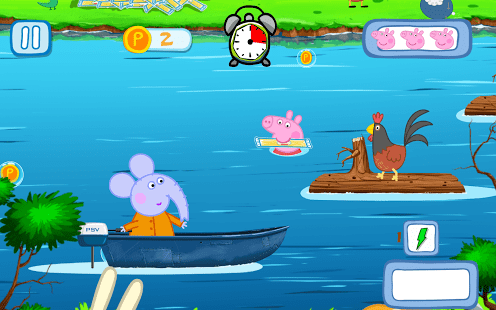 Peppa on the river