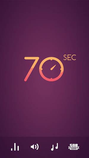 70 seconds