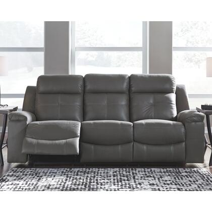 Rustic character comes forth in the warm brown Jesolo reclining sofa. Designer stitching adds a fashion-forward touch to the soft cushions. Faux suede fabric speaks to your knack for superior-quality materials. High back provides ample support as you...