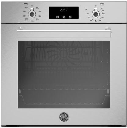 bertazzoni prof24fsexv professional series 24 inch 2 7 cu ft total capacity electric single wall oven