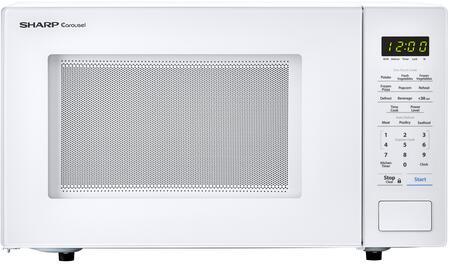 sharp smc1131cw 1 1 cu ft capacity countertop microwave