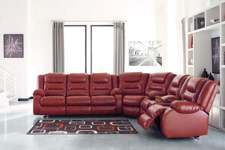 The Vacherie sectional sofa embodies a simple and functional design. Fabulous faux leather upholstery makes luxe living remarkably affordable. Featuring pillow top armrests. waterfall channel cushioning and manual reclining. lie back and enjoy sittin...