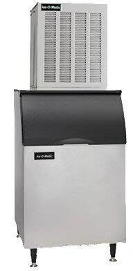 This flake ice maker by Ice-O-Matic features heavy-duty gear box water sensor and systemsafe which is able to shut down the system before a problem develops and prevent costly repairs