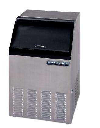 The Maxx Ice icemaker produces up to 135 lbs of ice per day and includes a self-contained 35 lb storage bin Stainless steel construction provides durability to a unit that is low-maintenance and easy to clean The unit produces crystal clear bullet sh...