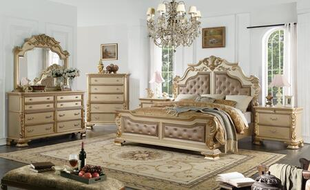 cosmos furniture miranda 6 piece queen size bedroom set