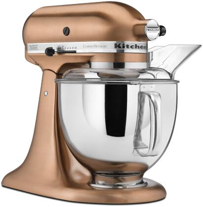 The Custom Metallic Series offers three lustrous premium custom-plated finishes with tilt-head mixer head design and generous 5-quart capacity making it the ultimate in user-friendly design Features 10 speeds and KitchenAids unique planetary mixing a...
