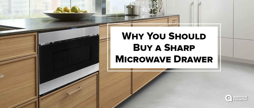 a sharp microwave drawer