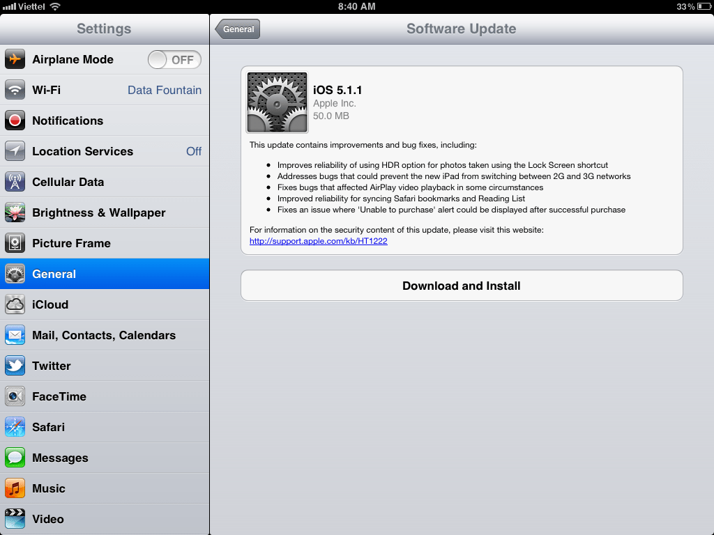 Link Download iOS 5 1 1 (IPSW) iPhone3GS/4/4S, iPad, iPad 2