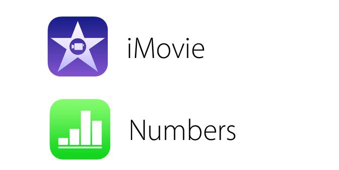 Các biểu tượng mới của bộ iWork và iLife theo phong cách iOS 7.