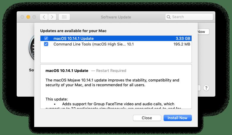 Những thay đổi chính trong MacOS Mojave 10.14.1