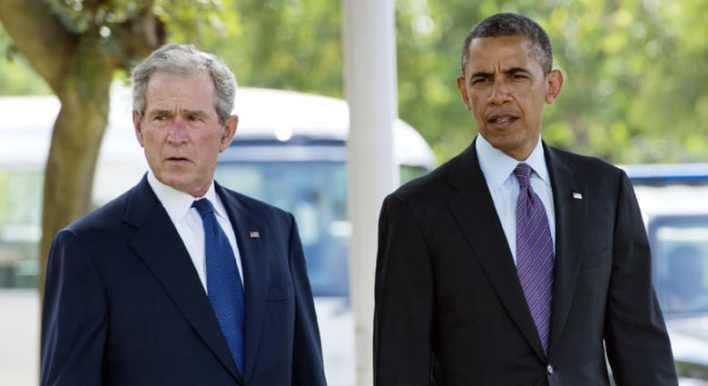 Image result for أوباما وجورج بوش