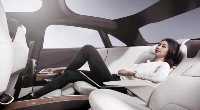 The rear seat design is inspired by the aircraft seats
