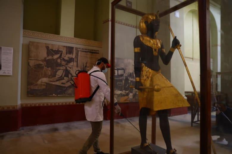نتيجة بحث الصور عن بدء تعقيم المناطق الأثرية والمعابد ضد فيروس كورونا