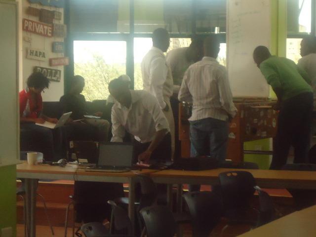 People working in Startup Garage Nairobi