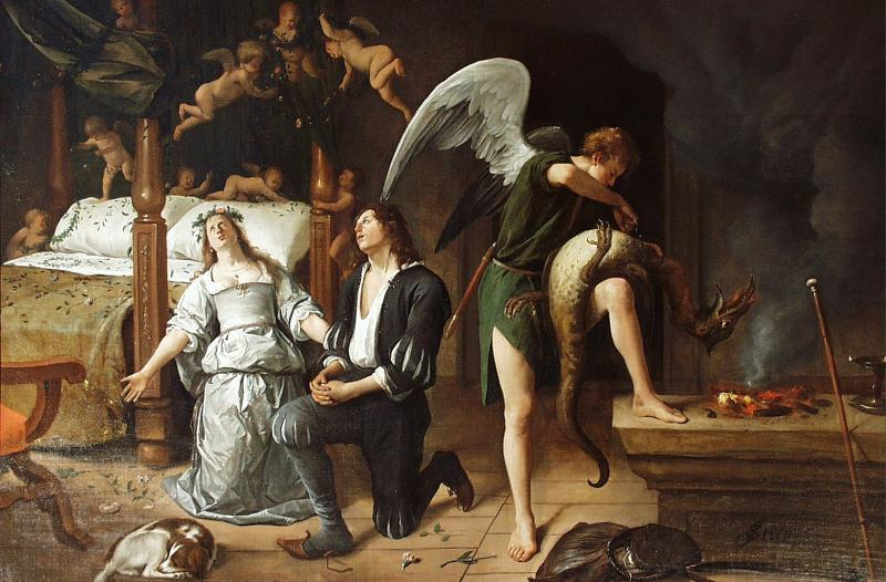 Jan Havicksz. Steen: Tobias' and Sara's Wedding Night