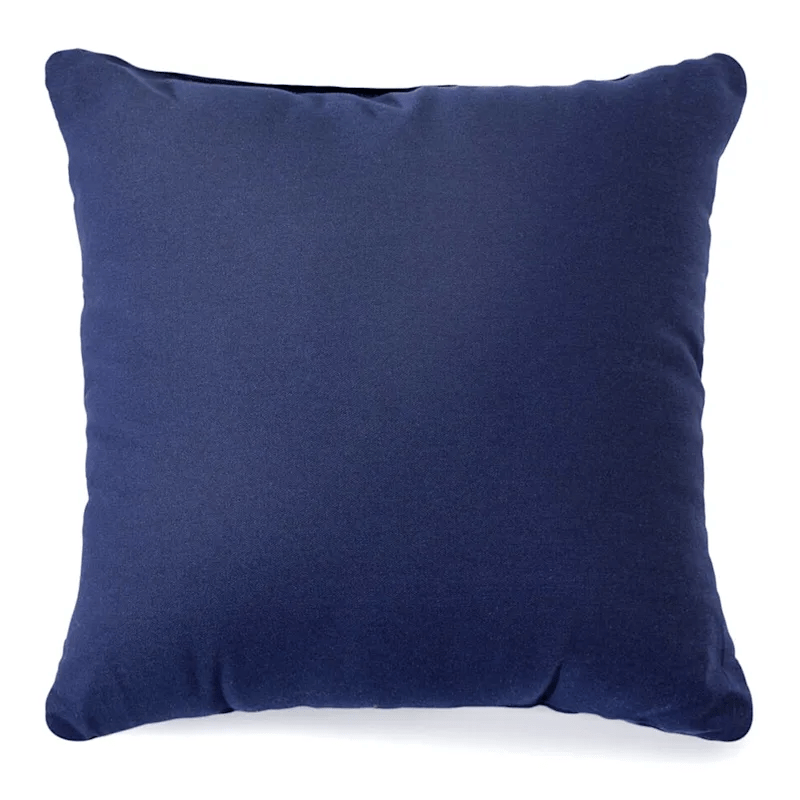 navy solid color pillow 25x25 at home