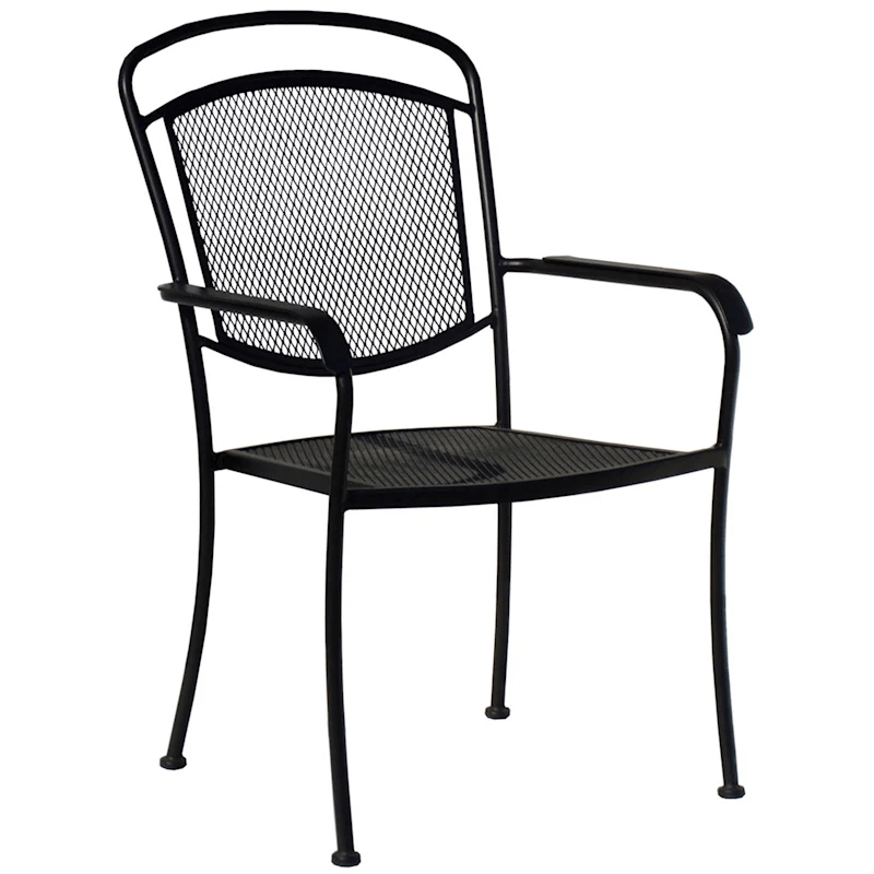 steel wrought iron outdoor chair at home