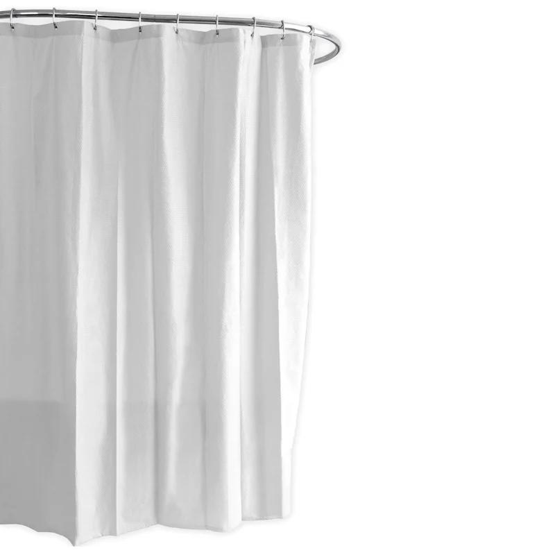 ella white embossed fabric shower